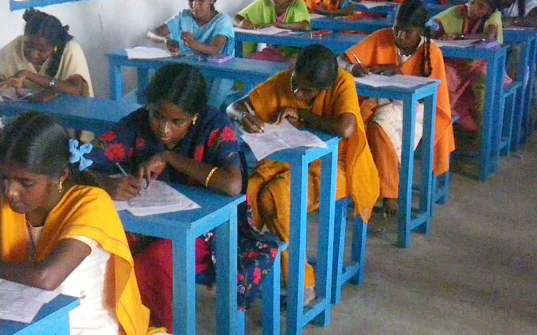 India: Teaching girls. Training adults. Building houses.