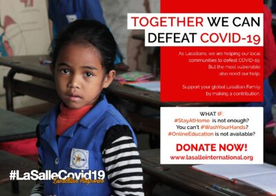 Global: Lasallian International COVID-19 Appeal Provides Urgent Humanitarian Aid
