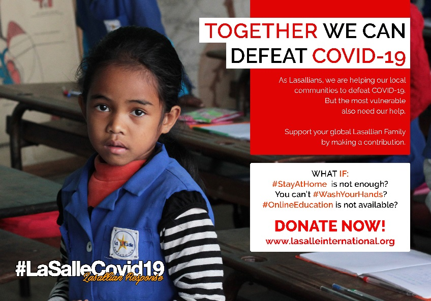International Lasallian COVID-19 Fundraising Appeal Will Provide Humanitarian Assistance to Vulnerable Areas